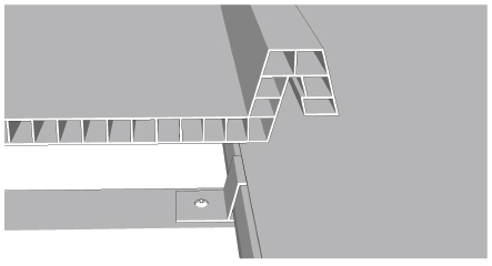 langkah 11 cara pasang ez-lock gabungkan lembaran ez-lock