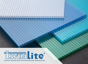 Warna Twinlite - Blue, Tosca, Clear - Premium Multiwall Polycarbonate Roofing Sheet