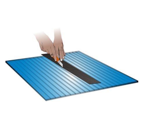 Cara pasang polycarbonate - Memotong lembaran menggunakan cutter