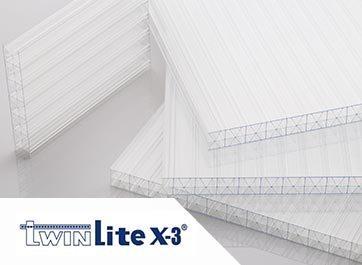 Twinlite X3 - Premium Triplewall Polycarbonate Roofing Sheet - Atap bening transparan