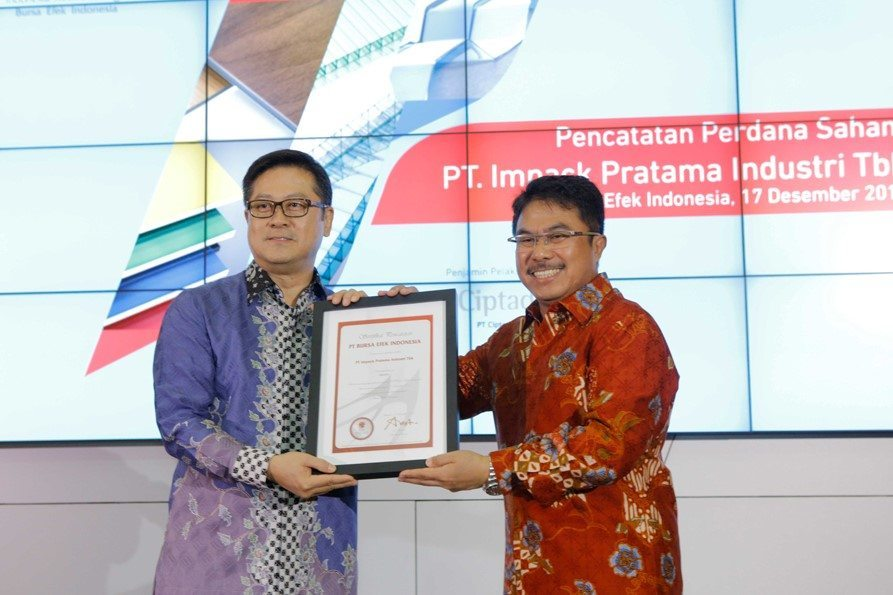 Impack Pratama Industri are listed in Indonesian Stock Exchange