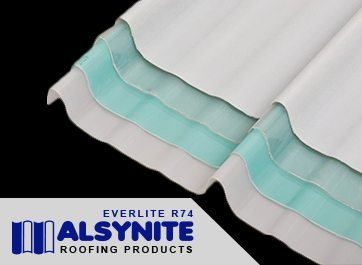 Alsynite Everlite R74 - Atap Fiber Ekonomis Tembus Cahaya