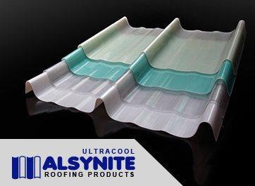 alsynite ultracool atap skylight bahan fiber gudang pabrik