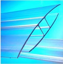 aksesoris polycarbonate joining with profile H aluminium
