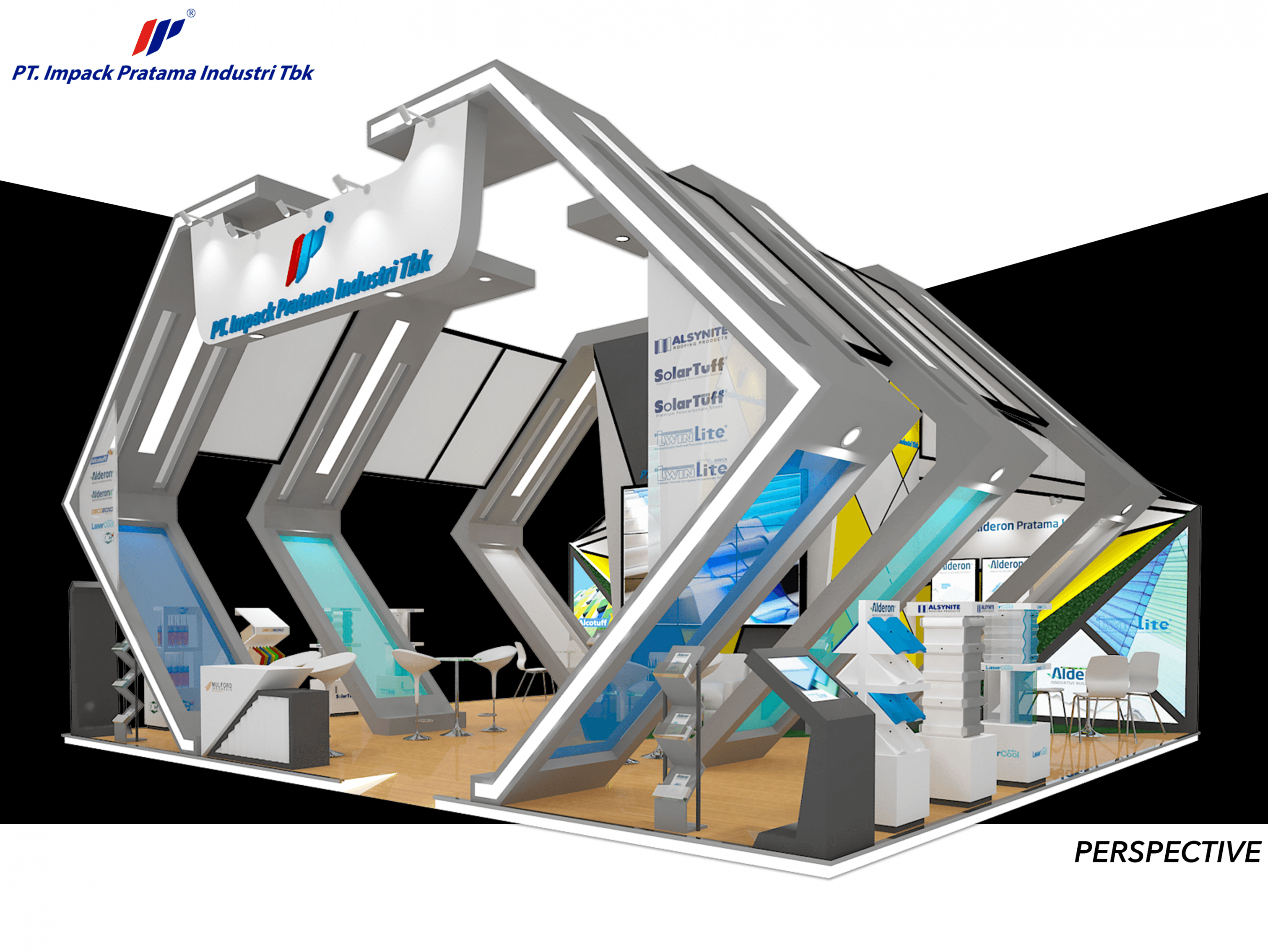 Layout Booth Indobuildtech IBT PT Impack Pratama Industri Tbk May 2018