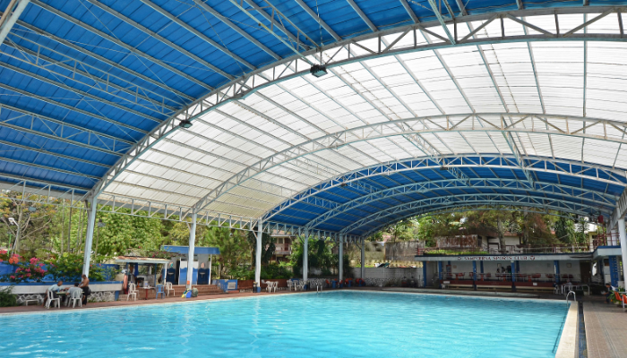 Inspirasi Aplikasi Atap Transparan - Atap Kolam Renang Sampoerna Sport Club