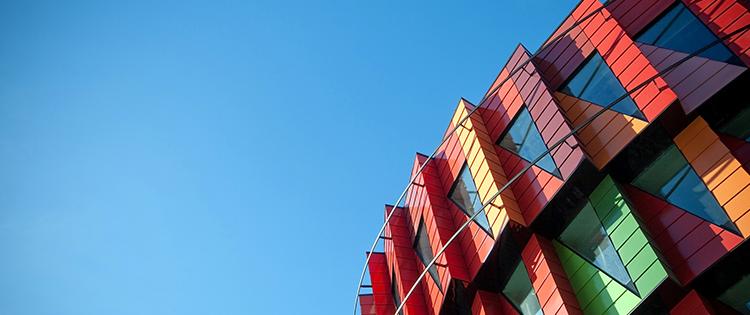aplikasi eksterior bangunan cantik aluminium composite panel acp