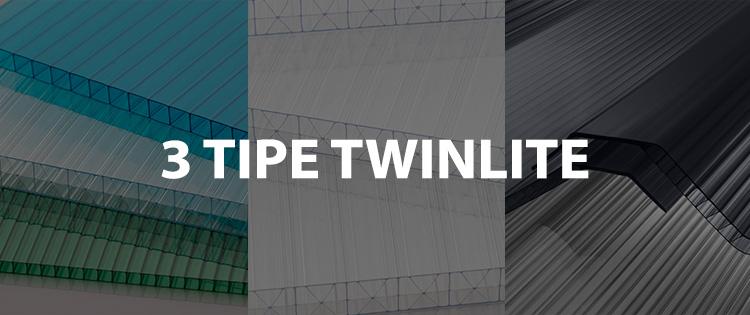 3 tipe twinlite atap transparan