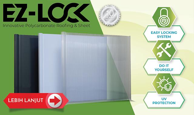 ez-lock atap plastik praktis minimalis