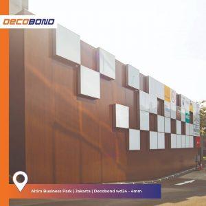 ACP Decobond Motif Serat Kayu untuk Fasad Bangunan