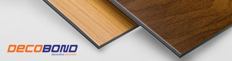 acp decobond motif kayu permukaan rata