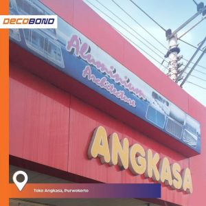 ACP Decobond sebagai Fasad Bangunan Toko Angkasa