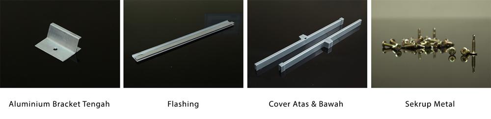 aksesoris ez-lock bracket flashing sekrup cover