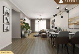 alvera lantai vinyl motif kayu pada apartemen classic tobacco