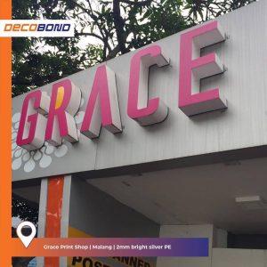 aplikasi acp decobond untuk eksterior grace print shop arsitektur fleksibel