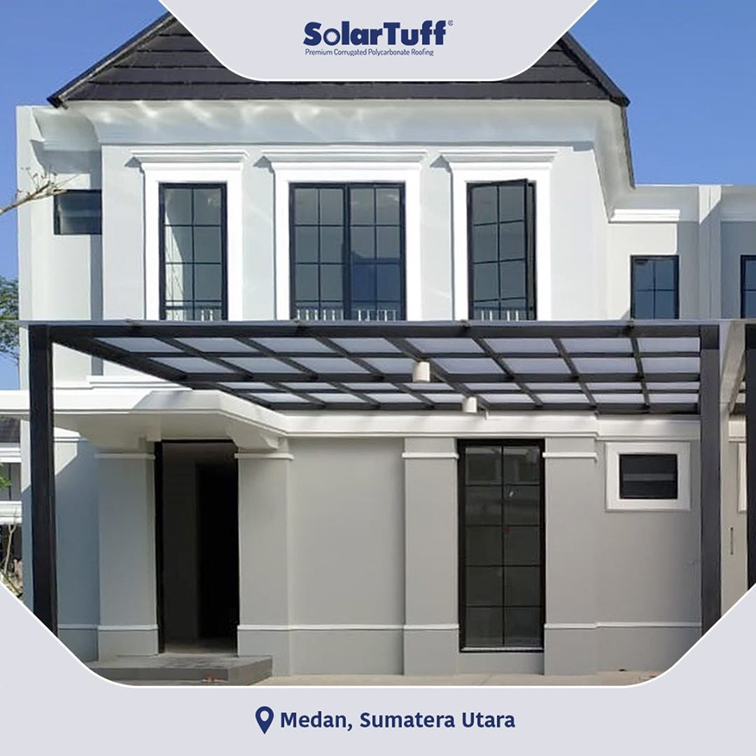 atap kanopi rumah minimalis solartuff polycarbonate