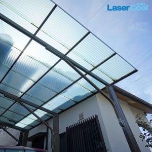 Atap pvc plastik Lasercool Bening Transparan