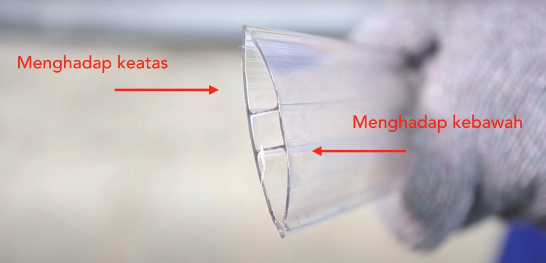 cara menyambung polikarbonat profil h