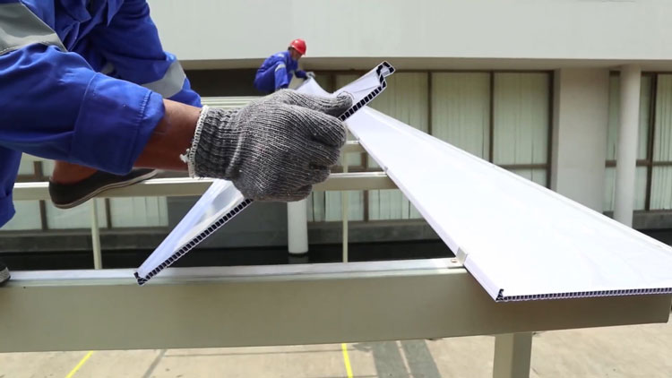 cara mudah pasang ez-lock atap transparan