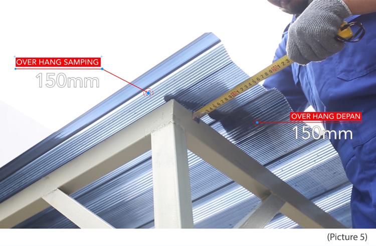 pasang polycarbonate kanopi twinlite greca