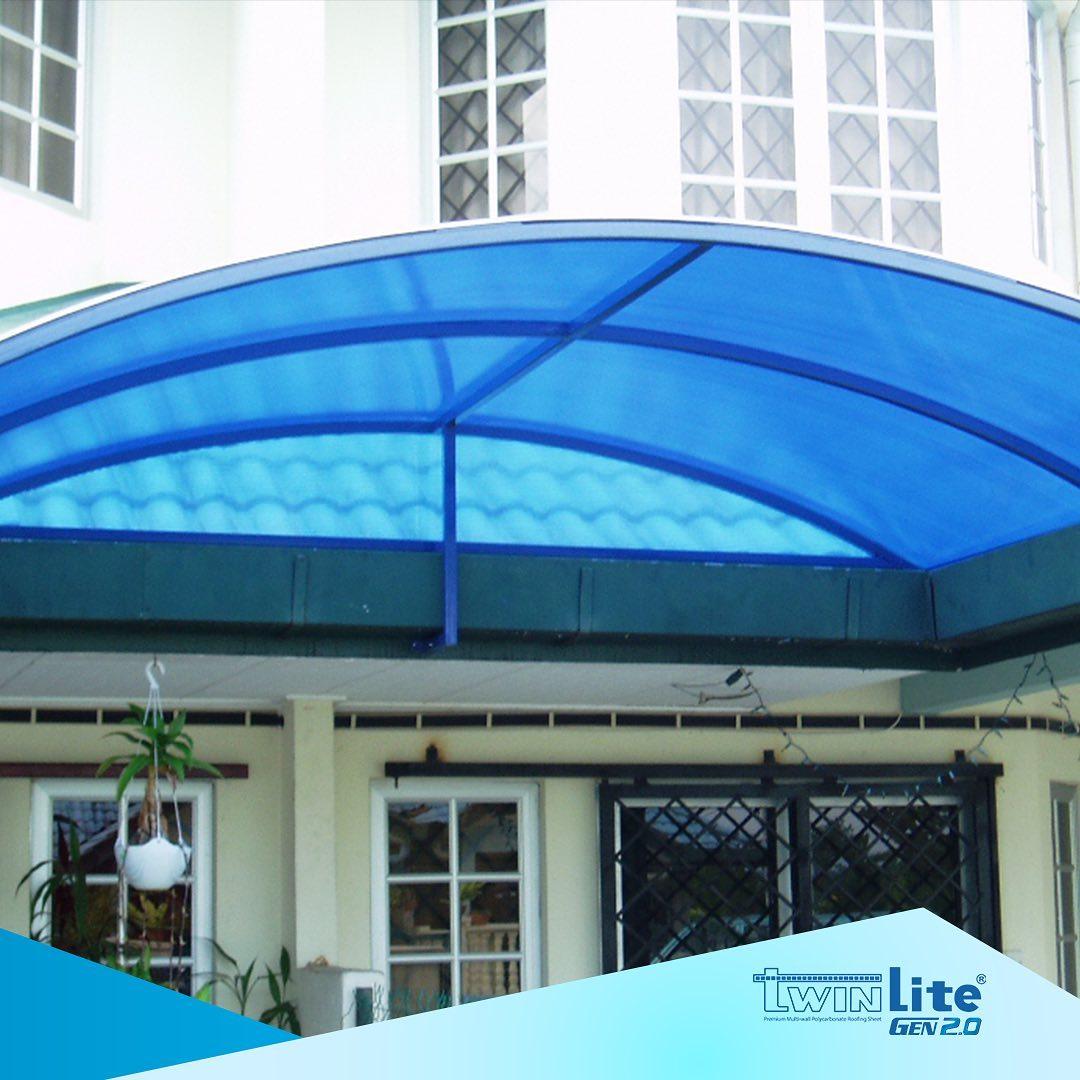 carport minimalis atap kanopi polycarbonate twinlite melengkung