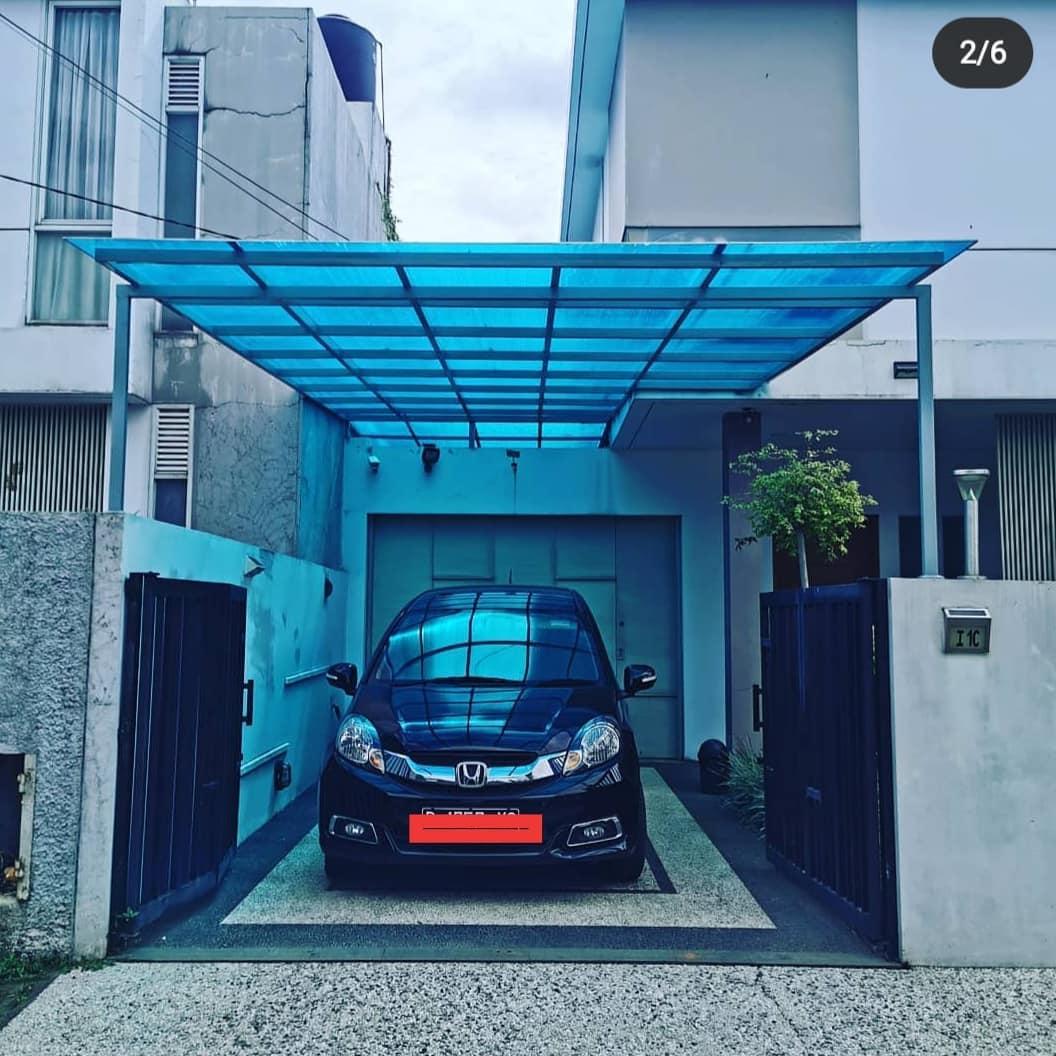 carport minimalis twinlite biru