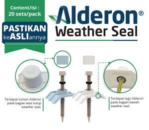 ciri sekrup baut weather seal alderon yang asli