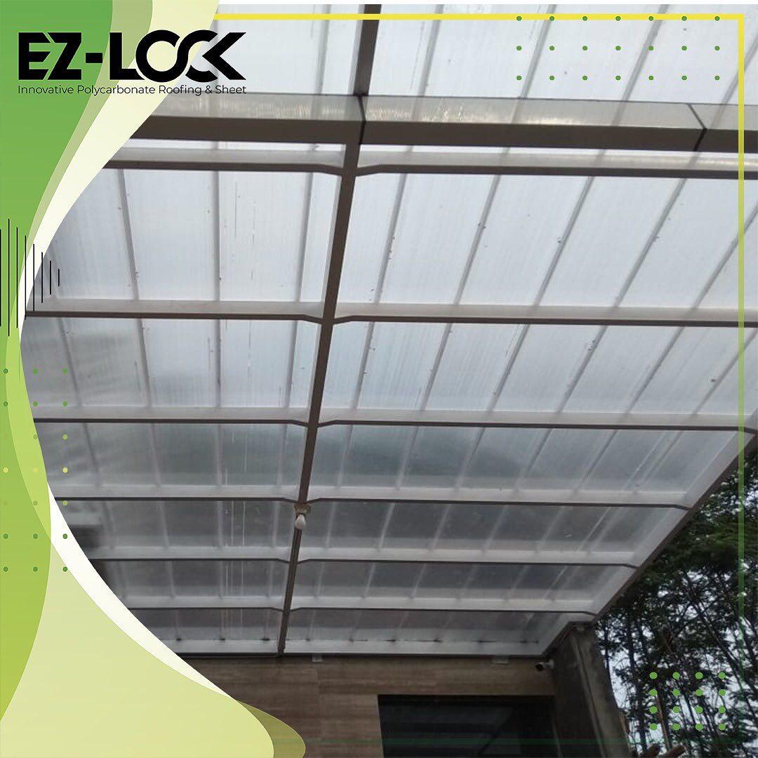ezlock atap bening polycarbonate untuk kanopi garasi teras minimalis