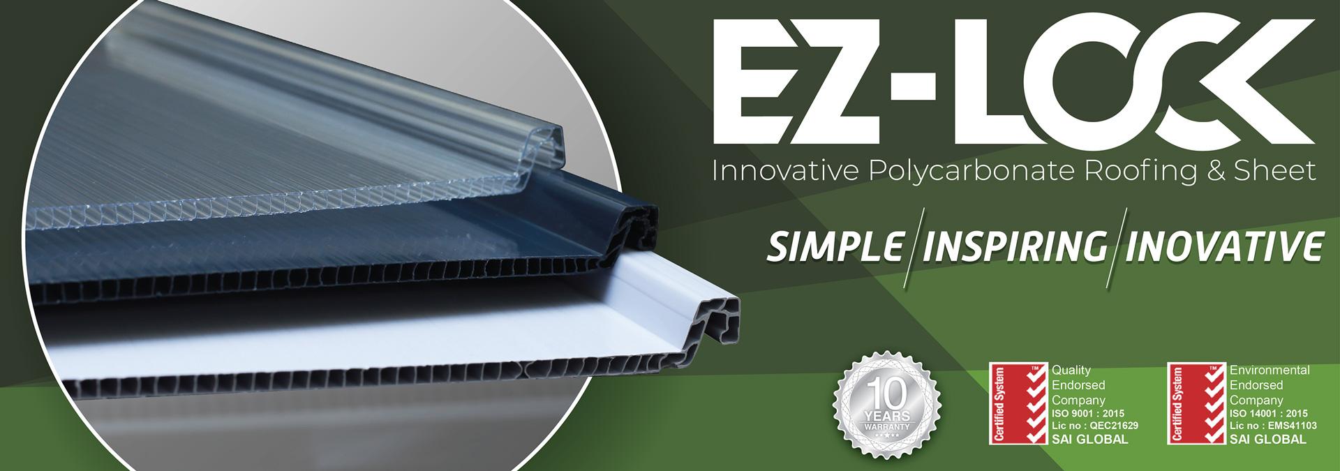 ez-lock atap transparan terbaik praktis minimalis