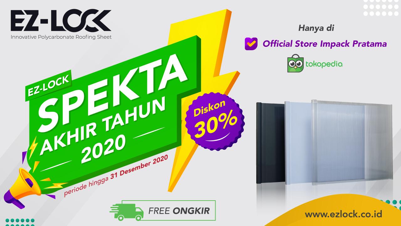 EZ-Lock Tokopedia Diskon 30% atap kanopi murah