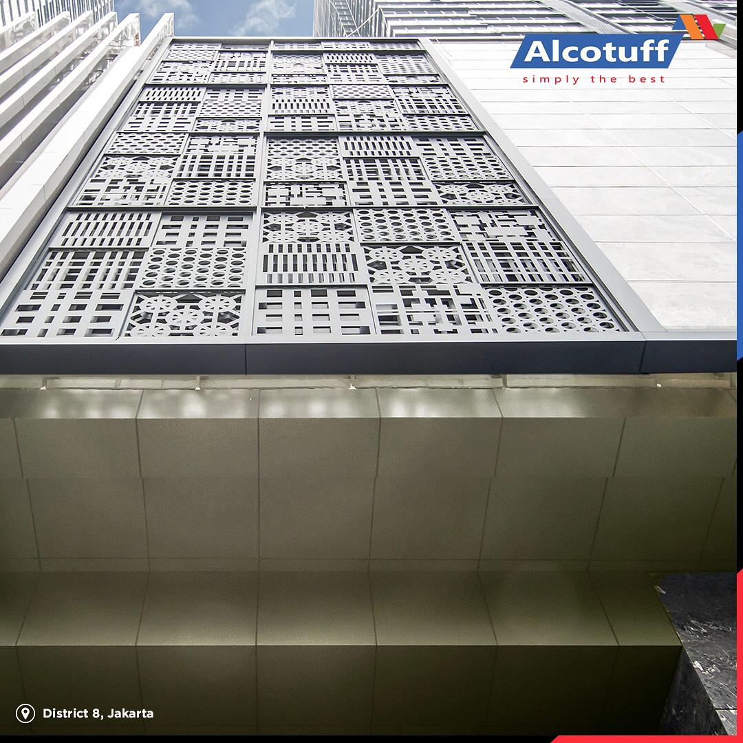 fasad bangunan distributor acp panel alcotuff