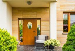 fasad rumah acp motif marble dan kayu