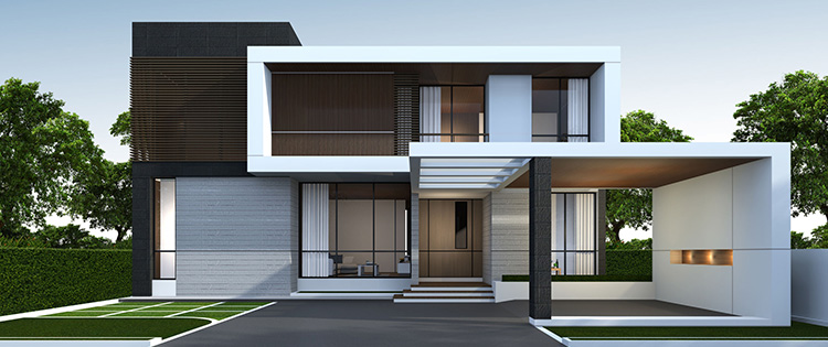 fasad rumah minimalis menggunakan acp aluminium composte panel