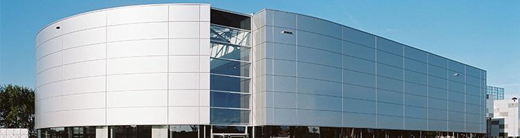 inspirasi wall cladding fasad bangunan dengan acp