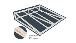 instalasi ecolite sudut kemiringan atap