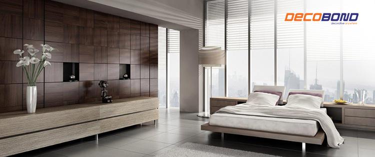interior kamar tidur dengan partisi acp decobond