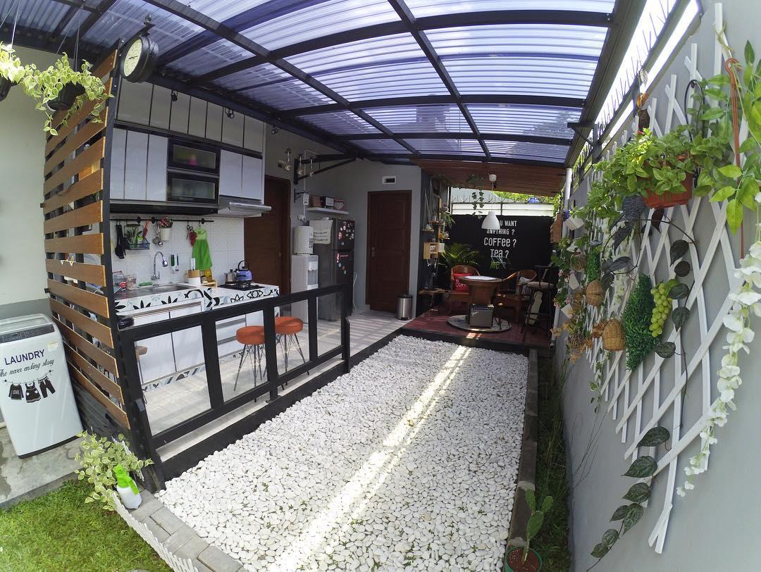 kanopi dapur belakang atap bening solartuff