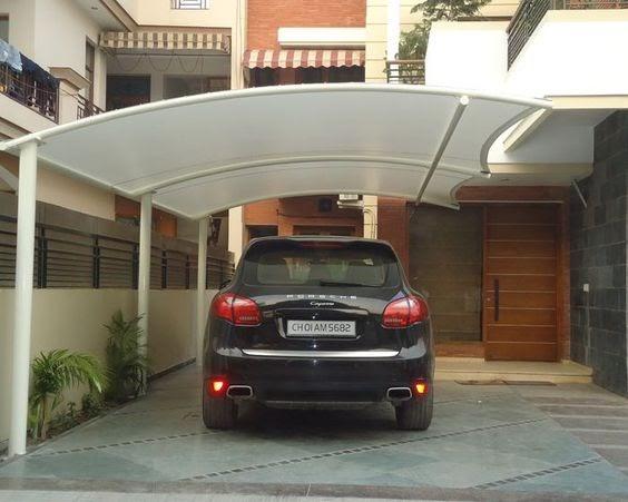 kanopi garasi mobil carport polycarbonate lengkung