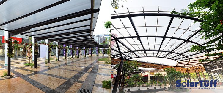 gambar kanopi minimalis area terbuka taman solartuff solid
