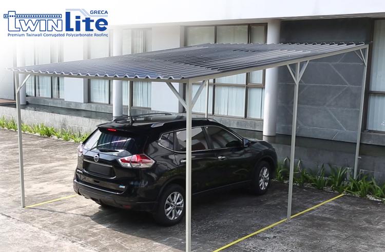 kanopi minimalis carport garasi mobil twinlite greca