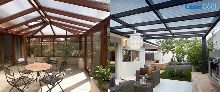 kanopi minimalis ruang santai ruang keluarga lasercool
