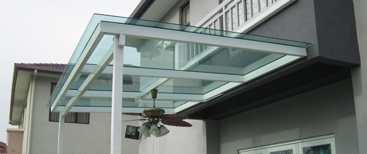 kanopi teras kaca