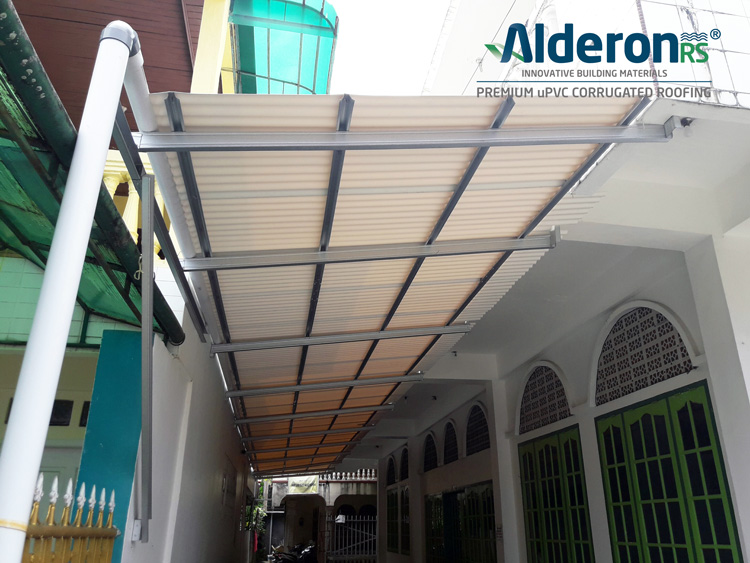 kanopi teras masjid alderon rs roma putih