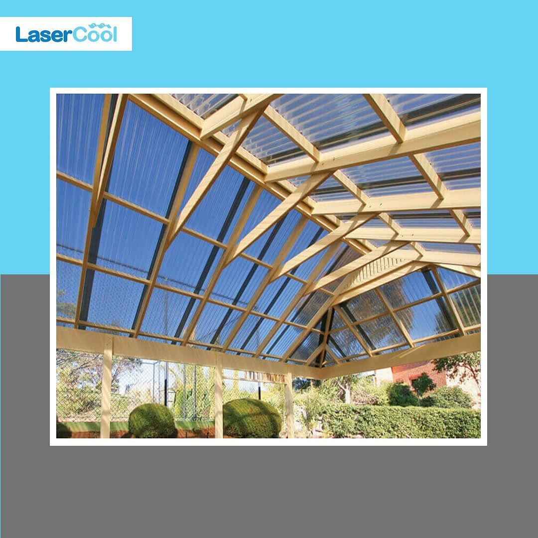 kanopi transparan lasercool rangka kayu
