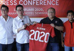 kerjasama alderon sebagai sponsor resmi bali united