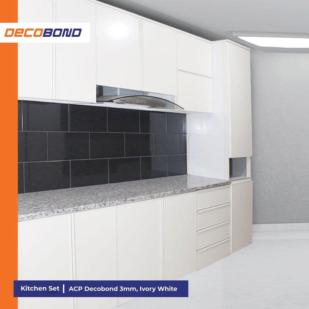 kitchen set aluminium acp decobond warna putih