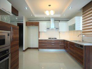 kitchen set rumah minimalis motif kayu aluminium acp decobond