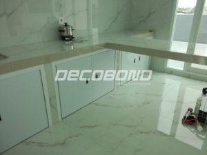 kitchen set rumah minimalis warna putih aluminium acp decobond