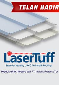 lasertuff atap upvc terbaru produksi impack pratama