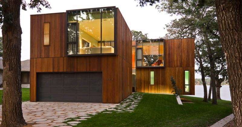 material kayu untuk fasad rumah